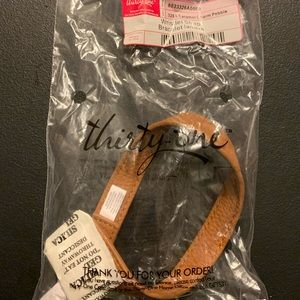 NIP Wrist Strap Carmel charm by thirty-one